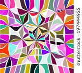abstract colorful background of ... | Shutterstock .eps vector #197444933