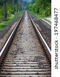 railway perspective view | Shutterstock . vector #197468477