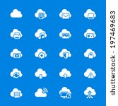 cloud computing flat icons | Shutterstock .eps vector #197469683