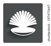 sea shell sign icon. conch...
