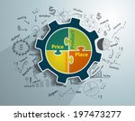 infographic template with 4p... | Shutterstock .eps vector #197473277