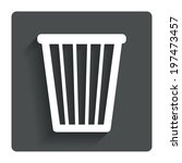 recycle bin sign icon. bin...