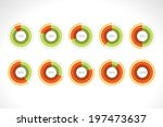 set segmented circle pie charts ... | Shutterstock .eps vector #197473637