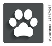 dog paw sign icon. pets symbol. ...