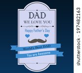 happy father's day banner on... | Shutterstock . vector #197482163