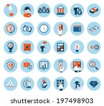 large set of finance and... | Shutterstock .eps vector #197498903