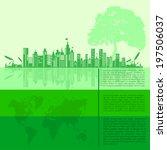 infographics green modern city... | Shutterstock .eps vector #197506037