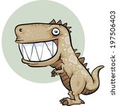 a happy  cartoon dinosaur with... | Shutterstock .eps vector #197506403