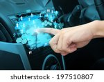 pushing on a touch screen... | Shutterstock . vector #197510807