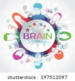 brainstorming with group of... | Shutterstock .eps vector #197512097