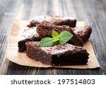 Cake Chocolate Brownies On...