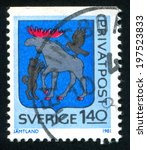 sweden   circa 1981  stamp... | Shutterstock . vector #197523833