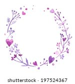 watercolor vector flowers... | Shutterstock .eps vector #197524367