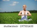 beautiful young woman doing...   Shutterstock . vector #197531633