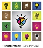 colorful creative idea bulb... | Shutterstock .eps vector #197544053