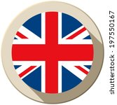 vector   uk flag button icon... | Shutterstock .eps vector #197550167