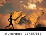 Silhouette Of A Woman Running ...