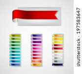 colorful ribbons set | Shutterstock .eps vector #197583647