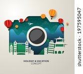 infographics camera travel and... | Shutterstock .eps vector #197595047