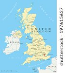 united kingdom political map... | Shutterstock .eps vector #197615627