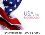 usa flag | Shutterstock . vector #197617253