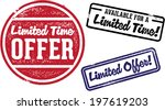 limited time offer vintage... | Shutterstock .eps vector #197619203