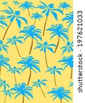 palm tree print | Shutterstock .eps vector #197621033