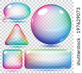 Transparent Multicolor Glass...