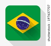 simple flat icon brazil flag....