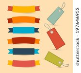 colorful retro ribbons  labels... | Shutterstock . vector #197646953
