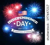 independence day of the usa... | Shutterstock .eps vector #197647217
