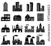 building icons set | Shutterstock .eps vector #197666813