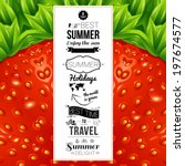 summer poster. optical... | Shutterstock .eps vector #197674577
