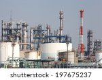 petrochemical industrial plant... | Shutterstock . vector #197675237