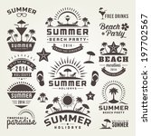 summer design elements and... | Shutterstock .eps vector #197702567