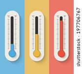 thermometers on color... | Shutterstock .eps vector #197706767