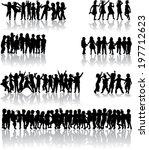 children silhouettes | Shutterstock .eps vector #197712623