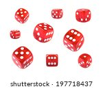 A Collection Of Red Dice At...
