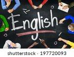 multi ethnic group of children... | Shutterstock . vector #197720093
