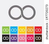 infinity symbol icon   vector | Shutterstock .eps vector #197720273