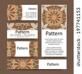 business cards pattern with... | Shutterstock .eps vector #197741153