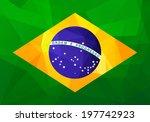 flag of brazil with modern... | Shutterstock .eps vector #197742923