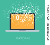 user programming coding binary... | Shutterstock .eps vector #197748413