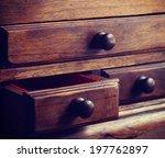 Wooden Drawers Old Vintage...