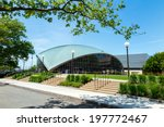 Small photo of BOSTON - MAY 30: Kresge Auditorium at MIT, Cambridge, Massachusetts on May 30, 2014. It was designed by the noted architect Eero Saarinen, with ground-breaking in 1953 and dedication in 1955.