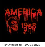 american skull illustration   t ... | Shutterstock .eps vector #197781827