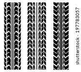 special black tire track design | Shutterstock .eps vector #197783057