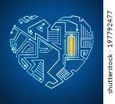 technological background  the... | Shutterstock .eps vector #197792477