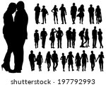 couple of young guy and girl on ... | Shutterstock . vector #197792993