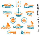 vintage summer voyage travel... | Shutterstock . vector #197839073